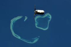 Atollo-Indonesia, in primo piano il veicolo da trasporto Cygnus