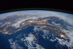 Nord Italia di notte