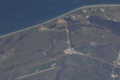 Il KSC ripreso durante il lancio dello Space Shuttle