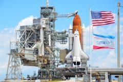 Endeavour sulla rampa di lancio