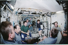 Expedition-two-crew-welcomes-the-sts-100-crew