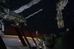 Stazione Spaziale di notte