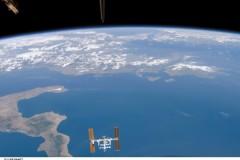 Stazione Spaziale sopra l'Italia