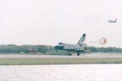 STS75 Atterraggio